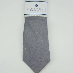 Ryan Seacrest Napa Tonal Dot Neck Tie Silk NWT
